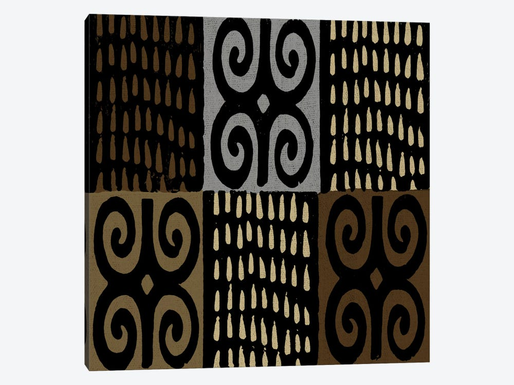Mudcloth Geometric Design V by Ellie Roberts 1-piece Canvas Art