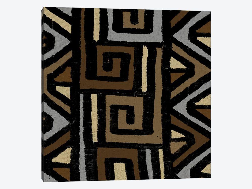 Mudcloth Geometric Design VI by Ellie Roberts 1-piece Canvas Art Print