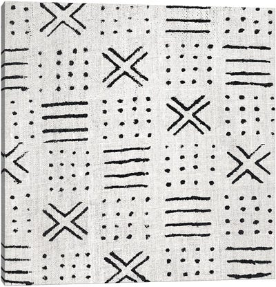 Mudcloth White Geometric Design III Canvas Art Print