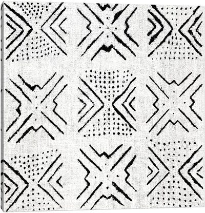 Mudcloth White Geometric Design IV Canvas Art Print