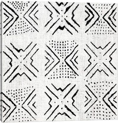 Mudcloth White Geometric Design IV Canvas Art Print