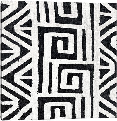 Mudcloth White Geometric Design VIII Canvas Art Print