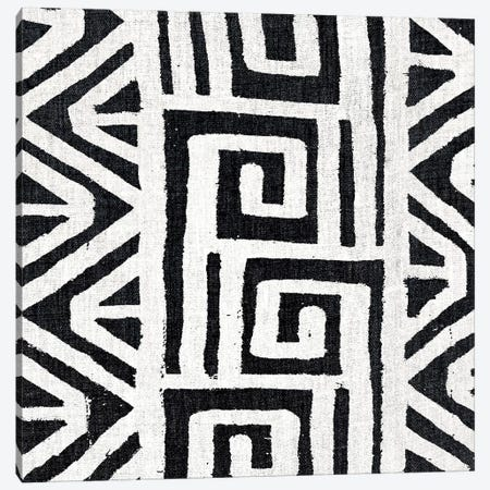 Mudcloth White Geometric Design VIII Canvas Print #ERO109} by Ellie Roberts Canvas Art Print