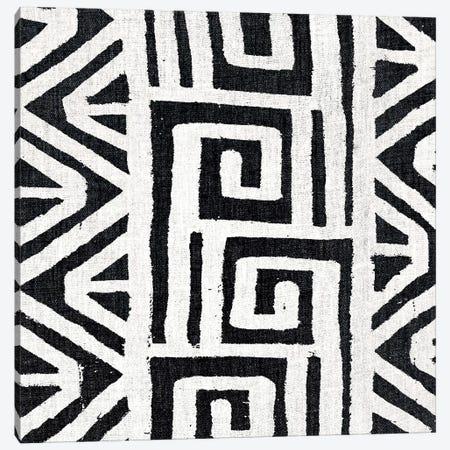 Mudcloth White Geometric Design VIII Canvas Print #ERO109} by Ellie Roberts Canvas Art Print