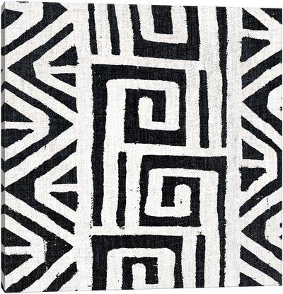 Mudcloth White Geometric Design VIII Canvas Art Print