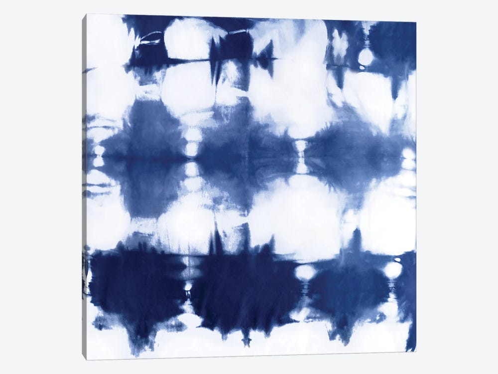 Shibori Dyed Decoration IV by Ellie Roberts 1-piece Canvas Print