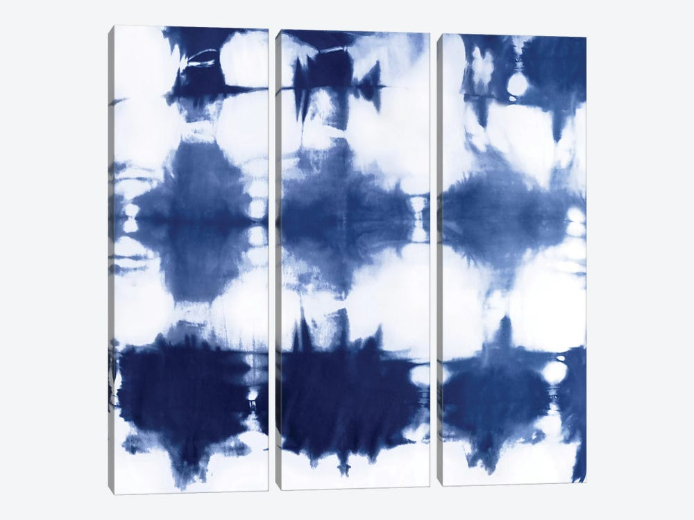 Shibori Dyed Decoration IV by Ellie Roberts 3-piece Canvas Print