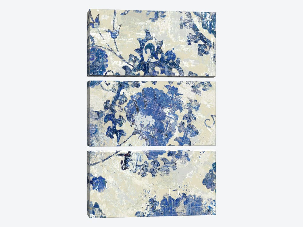 Adornment Panel Indigo I by Ellie Roberts 3-piece Canvas Art Print