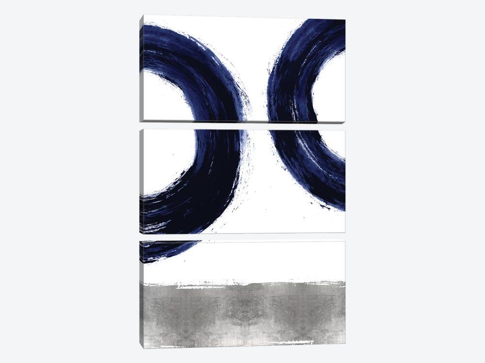 Gravitate Blue II by Ellie Roberts 3-piece Canvas Artwork