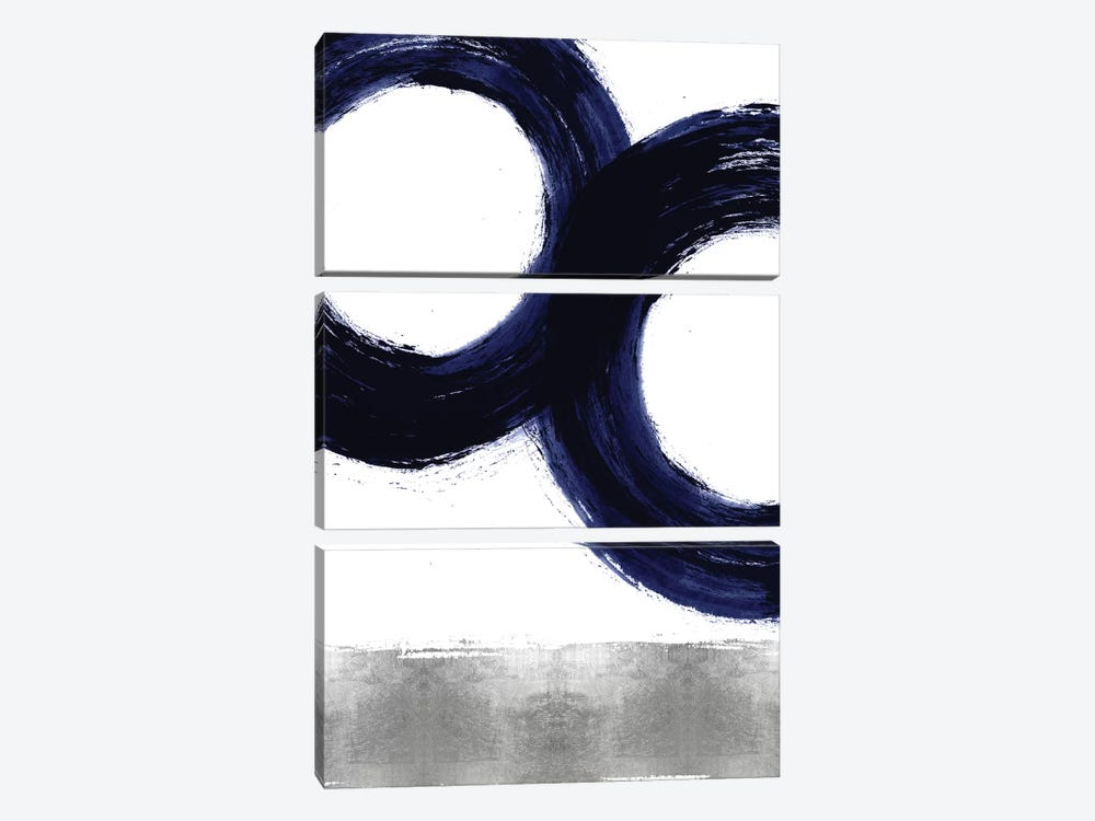Gravitate Blue III by Ellie Roberts 3-piece Canvas Print