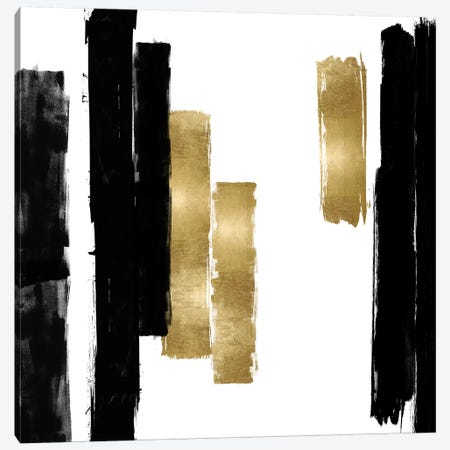 Vertical Black and Gold I Canvas Print #ERO135} by Ellie Roberts Art Print