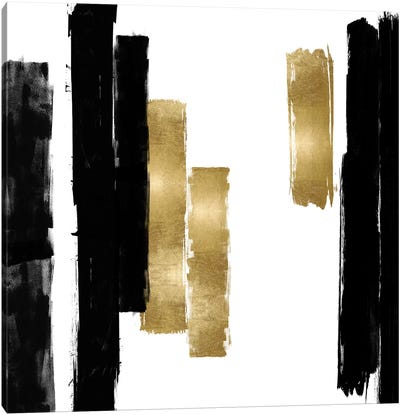 Vertical Black and Gold I Canvas Art Print
