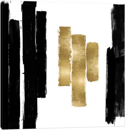 Vertical Black and Gold II Canvas Art Print