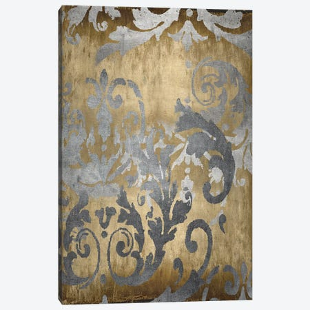 Damask in Gold I Canvas Print #ERO139} by Ellie Roberts Canvas Art