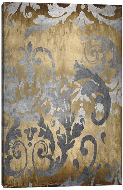 Damask in Gold I Canvas Art Print