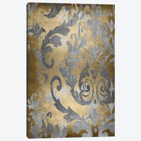 Damask in Gold II Canvas Print #ERO140} by Ellie Roberts Art Print