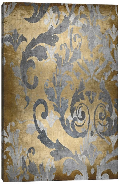 Damask in Gold II Canvas Art Print