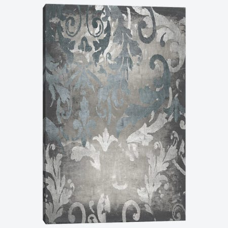 Damask in Silver I Canvas Print #ERO141} by Ellie Roberts Art Print