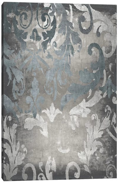 Damask in Silver I Canvas Art Print