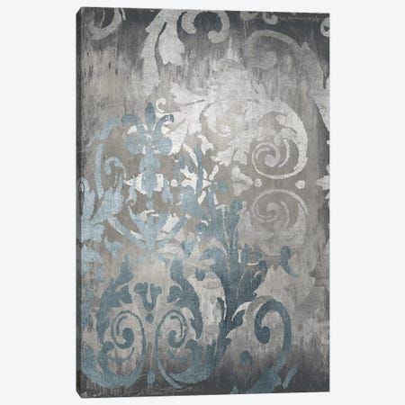 Damask in Silver II Canvas Print #ERO142} by Ellie Roberts Canvas Art Print