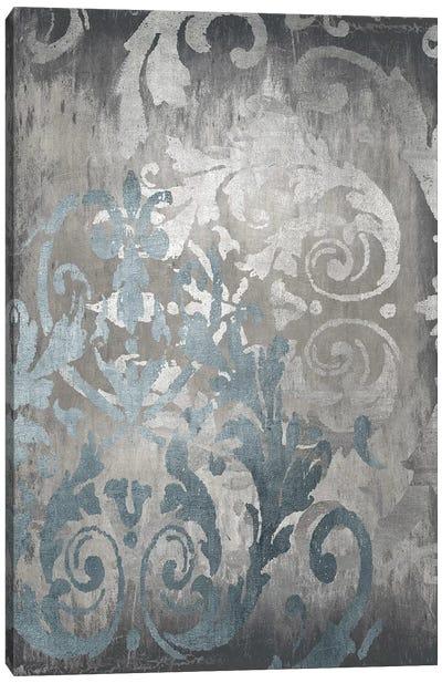 Damask in Silver II Canvas Art Print