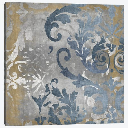 Damask in Silver and Gold II Canvas Print #ERO144} by Ellie Roberts Canvas Artwork
