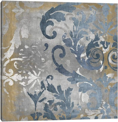 Damask in Silver and Gold II Canvas Art Print