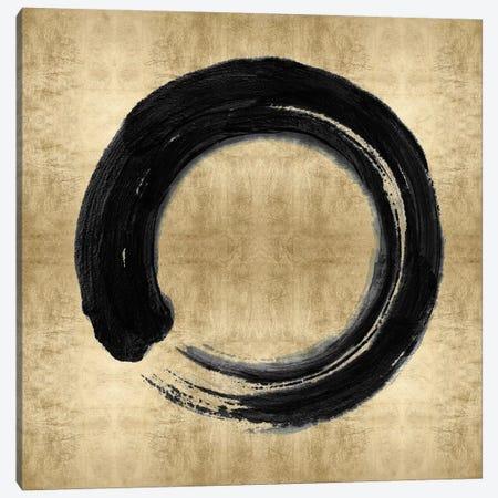 Black Zen Circle on Gold I Canvas Print #ERO147} by Ellie Roberts Canvas Art