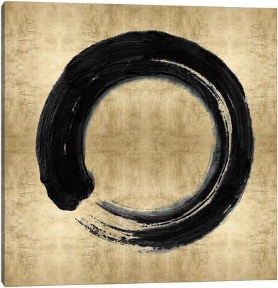Black Zen Circle on Gold I Canvas Art Print