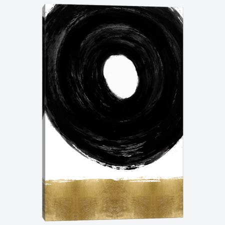 Glide Black and Gold I Canvas Print #ERO151} by Ellie Roberts Canvas Art