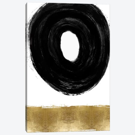 Glide Black and Gold II Canvas Print #ERO152} by Ellie Roberts Canvas Wall Art