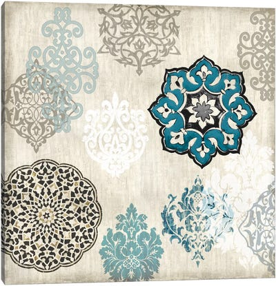 Decorative Blue Ornaments I Canvas Art Print