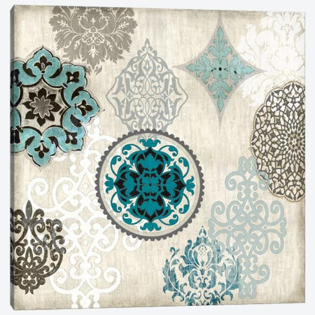 Decorative Blue Ornaments II Canvas Print #ERO23} by Ellie Roberts Canvas Wall Art