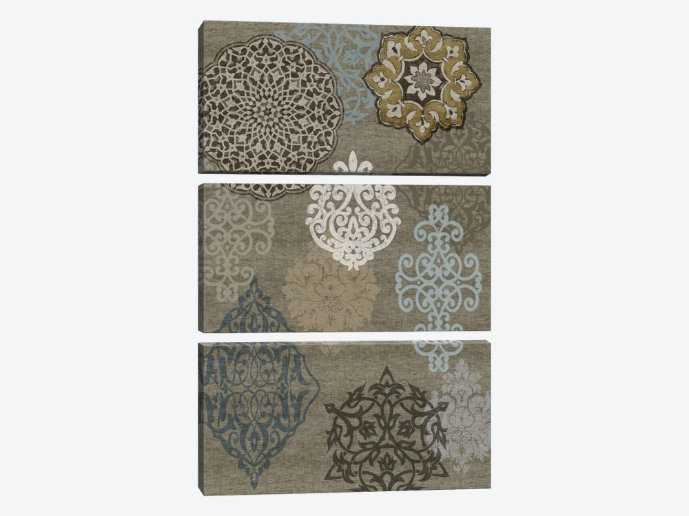 Decorative Ormanments I by Ellie Roberts 3-piece Canvas Wall Art