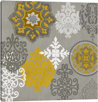 Decorative Ornaments In Gold I Canvas Art Print