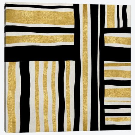 Gilded Groove I Canvas Print #ERO35} by Ellie Roberts Canvas Wall Art