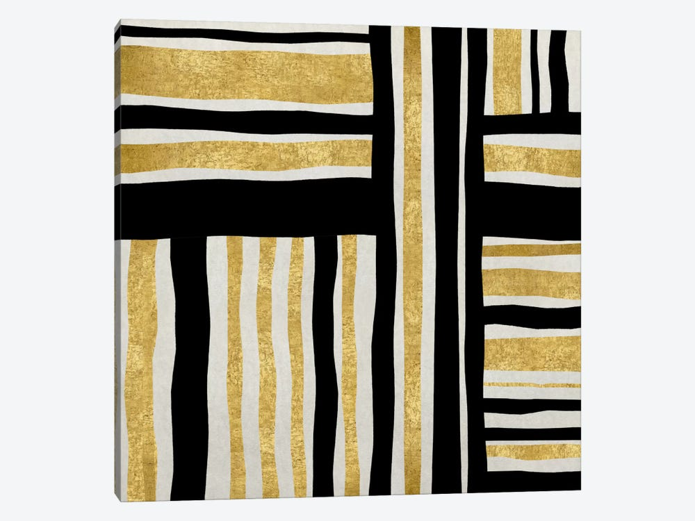 Gilded Groove I by Ellie Roberts 1-piece Canvas Wall Art