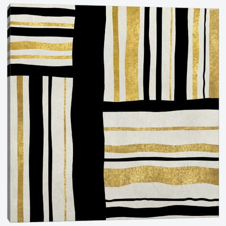 Gilded Groove II Canvas Print #ERO36} by Ellie Roberts Canvas Artwork