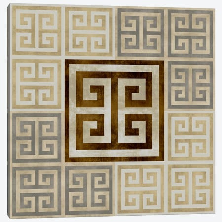Greek Key III Canvas Print #ERO46} by Ellie Roberts Art Print