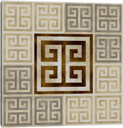 Greek Key III Canvas Art Print