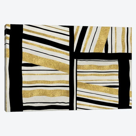 Intersect - Golden Canvas Print #ERO52} by Ellie Roberts Canvas Print