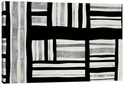 Intersect - Silver Canvas Print #ERO53