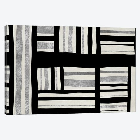 Intersect - Silver Canvas Print #ERO53} by Ellie Roberts Canvas Print
