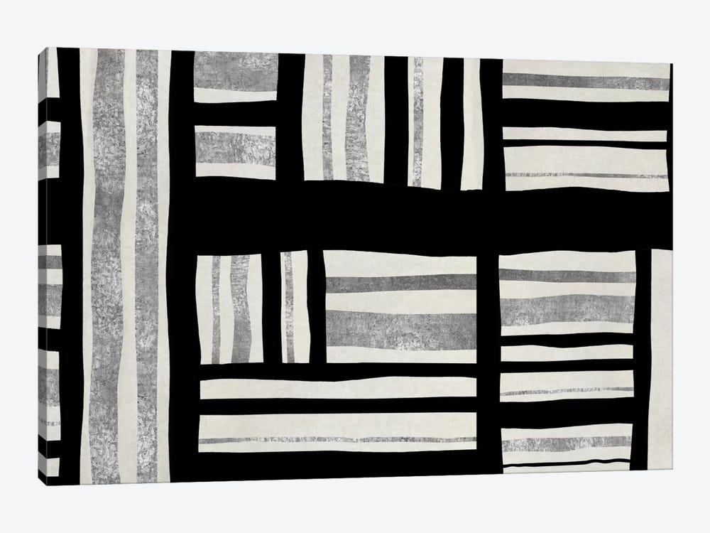 Intersect - Silver by Ellie Roberts 1-piece Canvas Art