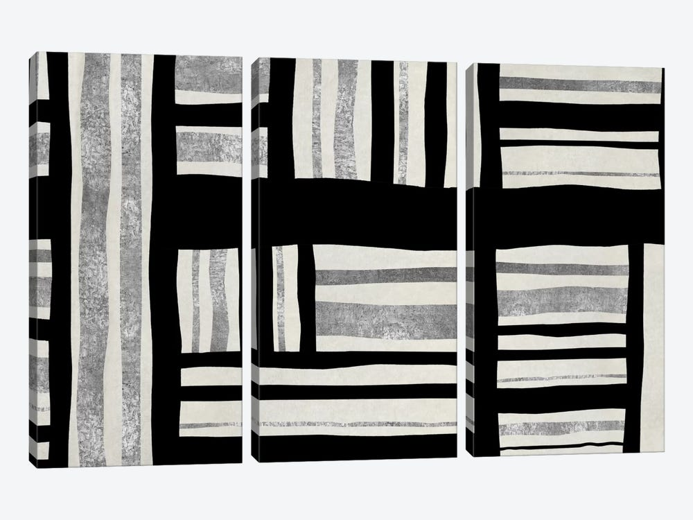 Intersect - Silver by Ellie Roberts 3-piece Canvas Art
