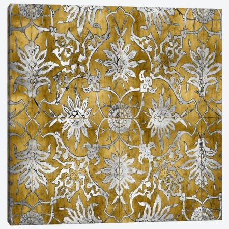 Ornate In Gold And Silver Canvas Print #ERO57} by Ellie Roberts Canvas Wall Art