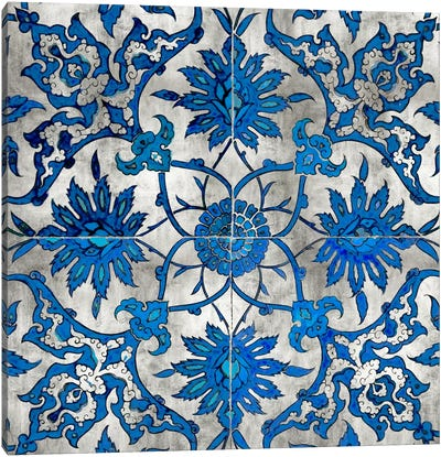 Ornate In Silver And Blue Canvas Print #ERO58