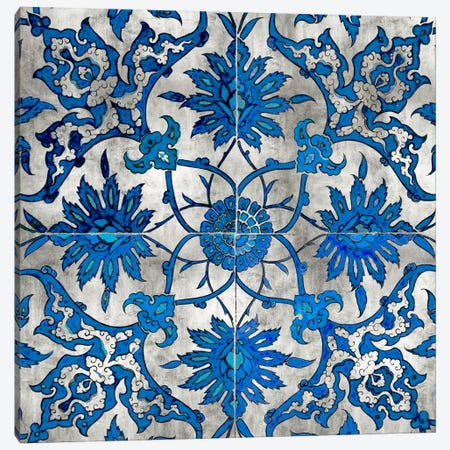 Ornate In Silver And Blue Canvas Print #ERO58} by Ellie Roberts Canvas Print