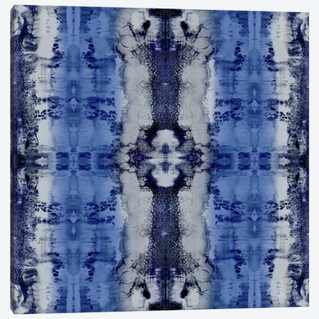 Patterns In Indigo Canvas Print #ERO65} by Ellie Roberts Canvas Print
