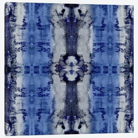 Patterns In Indigo Canvas Print #ERO65} by Ellie Roberts Canvas Print